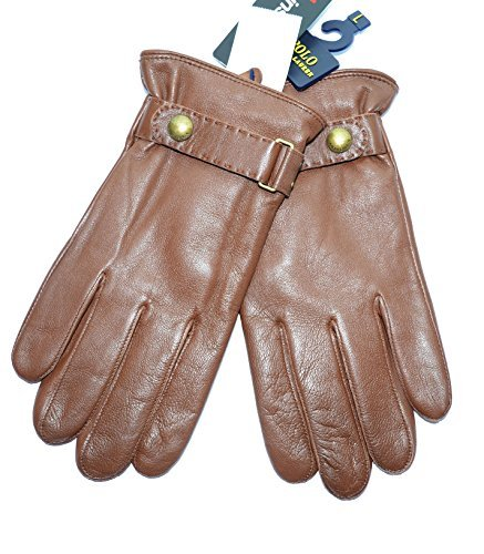 Ralph Lauren Men's Winter Leather Gloves Driving Touch Te...