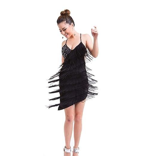 Disfraz de práctica de baile latino para mujer Sin mangas de las ...
