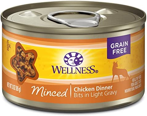 Wellness Natural Grain Free Wet Canned Cat Food Minced Chicken