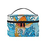 MaMacool Koi Coloring Tattoo Cosmetic Bags for women Travel Makeup Toiletry Organizer Case