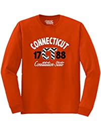 Connecticut State Chevron Souvenir Destination Location Design Long Sleeve T