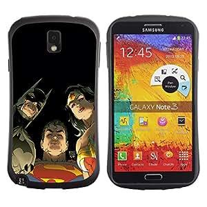 """Hypernova Slim Fit Dual Barniz Protector Caso Case Funda Para Samsung Note 3 [Personajes de dibujos animados Cómics""""]"""