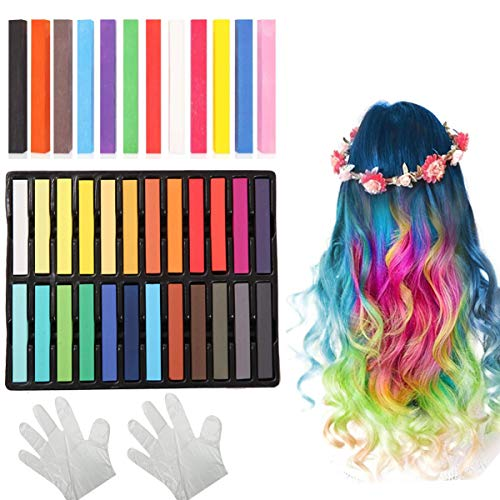 Dancepandas Haarkrijtverf 2 sets Haarkrijtstiften Pastel Tijdelijke haarkrijt Kleurensets Haarkrijt Kam voor kinderen…