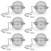 Tea Infuser EZOWare Set of 6 Stainless Steel Mesh Tea Ball Filter - Perfect Strainer for Loose Leaf Tea