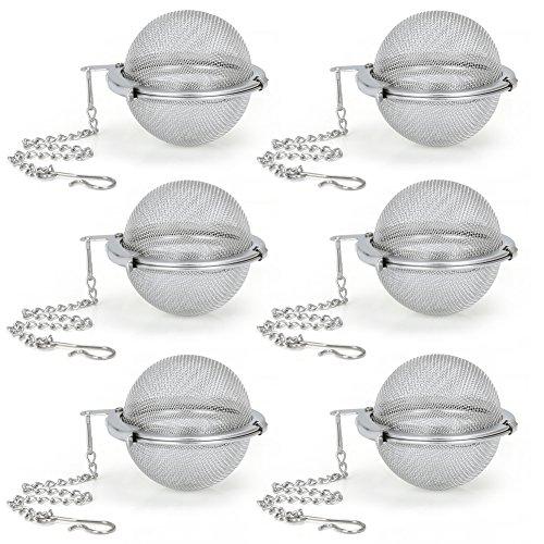 Stainless Steel Mesh Tea Infusers EZOWare (set of 6)