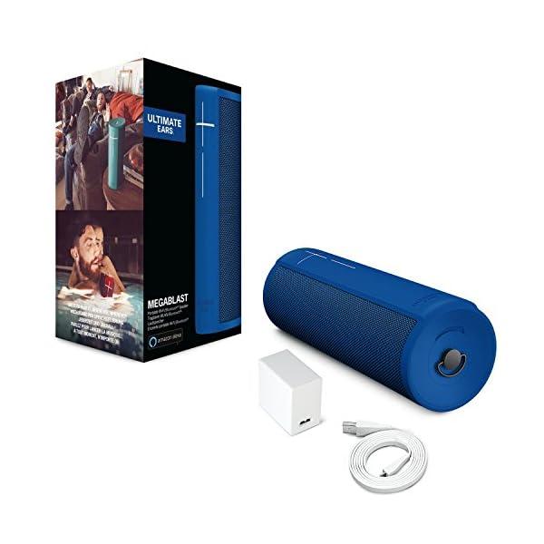 Ultimate Ears MEGABLAST Enceinte portable Wi-Fi/Bluetooth avec service vocal Amazon Alexa intégré (étanche) Bleu 6