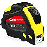 Tape Measure Retractable with Sturdy and Easy Read BESITA 25ft Steel Measuring Tape for Engineer Marking