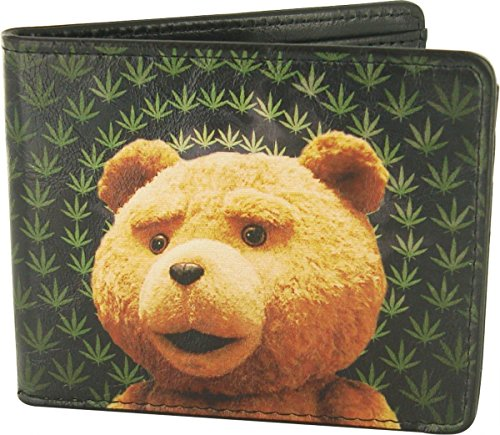 Buckle-Down Men's Wallet Ted Marijuana Haze Accessory, -Multi, One Size