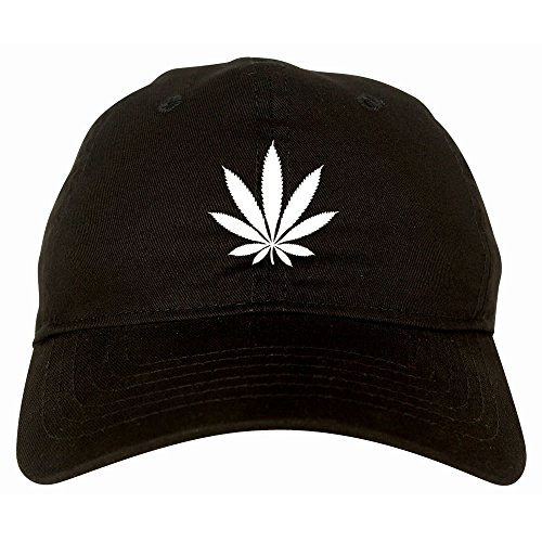 Kings-Of-NY-Weed-Leaf-Marijuana-Cannabis-Rasta-6-Panel-Dad-Hat-Cap-Black