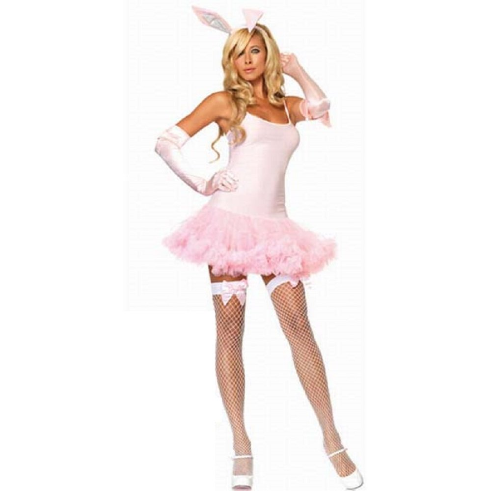 White apron fancy dress - Burlesque Box Sexy Ladies Pink Bunny Girl Fancy Dress Costume Womans Outfit Size 8 10