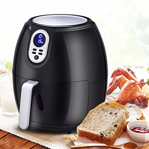 1500 W 4.8 Quart Electric Digital Air Fryer with LCD Screen Timer - By Choice - 13.0 Lcd