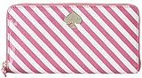 Kate Spade Lacey First Prize Pink White Stripe Vivid Snapdragon/Cream Wallet Bag