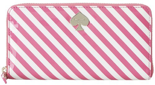 Kate Spade Lacey First Prize Pink White Stripe Vivid Snapdragon/Cream Wallet Bag by kate spade new york