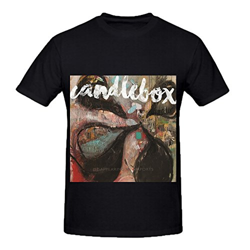 Candlebox Disappearing In Airports Rock Album Cover Mens Crew Neck Slim Fit Tee Black