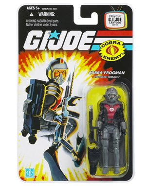 "G.I. JOE Hasbro 3 3/4"" Wave 11 Action Figure Cobra Eel (Cobra Frogman)"