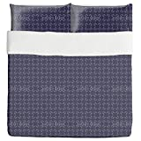 Midnight Sparkles Duvet Bed Set 3 Piece Set Duvet Cover - 2 Pillow Shams - Luxury Microfiber, Soft, Breathable