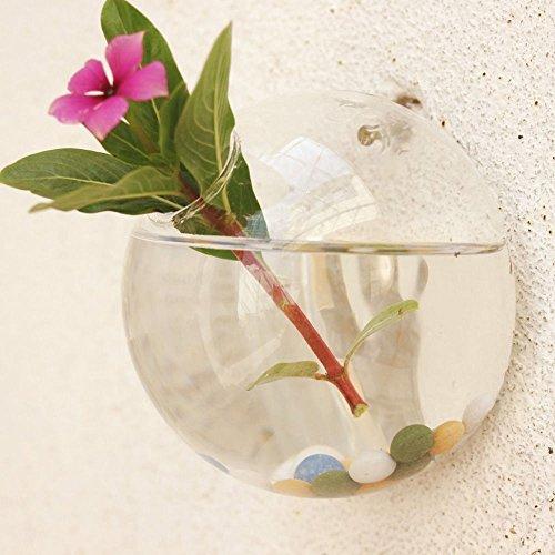 Red Rectangular Vases (1 Pcs Decoration Vases Crystal Flower Hanging Planter Terrarium Container Vase Wall Decor)