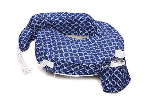 My Brest Friend My Brest Friend Original Nursing Pillow Kaleidoscope, Navy/White (Best Friend Nursing Pillow)