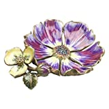 Jay Strongwater FLOWER TRINKET TRAY