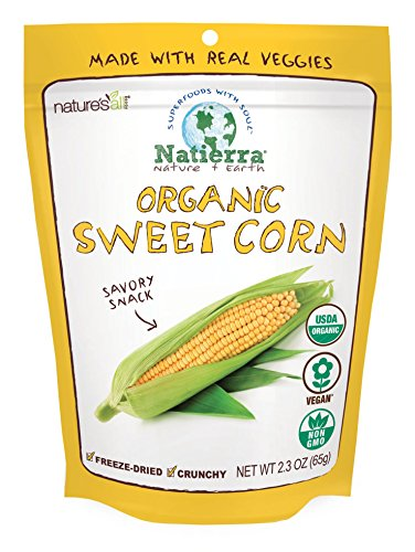 - Natierra Nature's All Foods Organic Freeze-Dried and Crunchy, Sweet Corn Flavor, 2.3 Oz