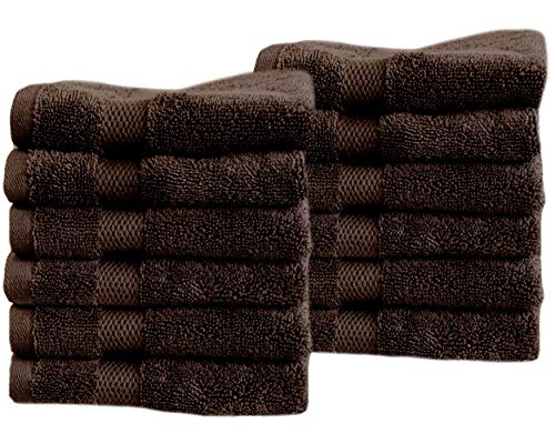- Cotton & Calm Exquisitely Fluffy Washcloths/Face Cloths Towel Set (12 Pack, 13