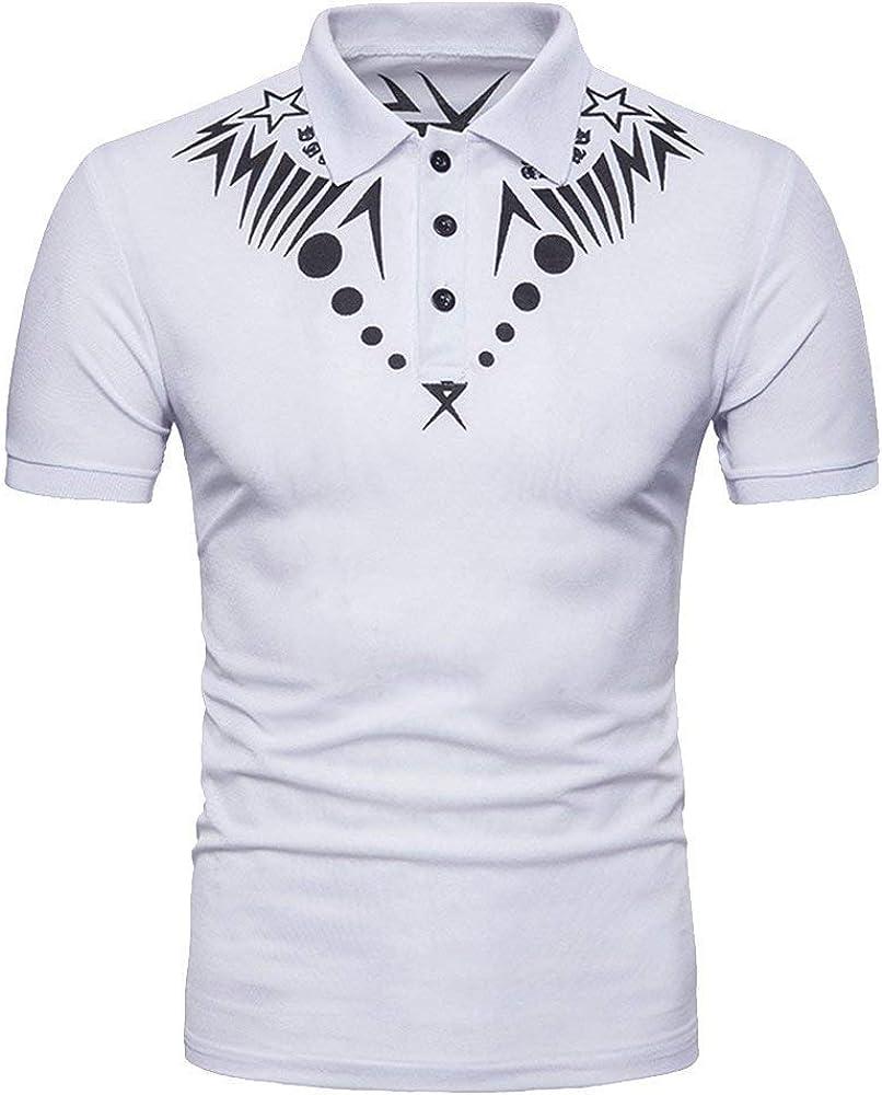 Camisa De Polo para Hombre con Estampado De Retro Hombres Polos De ...