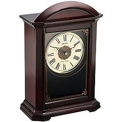 Seiko Wood Shelf Clock (Model: QXQ030BLH)