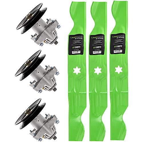 8TEN Blade Spindle Kit for MTD Cub Cadet 942-04053C 918-04126B Troy Bilt Toro 50 Inch Deck RZT 50 LT1050 Mustang XP Zero Turn from 8TEN