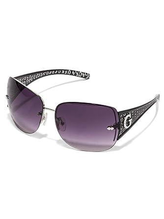 f6d6d4383f072 Amazon.com  GUESS Factory Women s Rimless Shield Sunglasses  Shoes