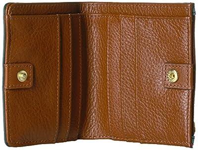 Fossil Caroline Rfid Mini Wallet Chevron Blue Wallet
