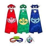 Toys : gerba PJ Masks Costumes Catboy Owlette Gekko Masks Capes Bracelets Neaclace For Kids