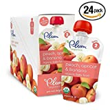 Plum Organics Second Blends, Peach Apricot Banana, 4 Ounce (Pack of 24) (Apricot Peach Value Pack 24 Pouches)