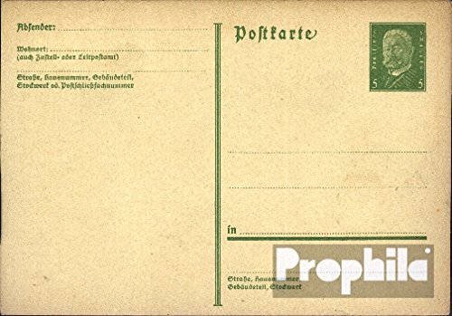 German Empire P194I Official Postcard 1931 Hindenburg (documents philatelic Covers for Collectors)