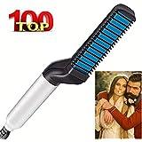Beard Straightener Brush, Electric Hair Comb For Mens, Hair Straightener Hair Styling Brush For Men, Portable Anti Scald Beard Iron, Gift For Men