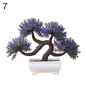 dezirZJjx Artificial Plants Artificial Plant Tree Bonsai Fake Potted Ornament Home Hotel Garden Decoration - 7# 3