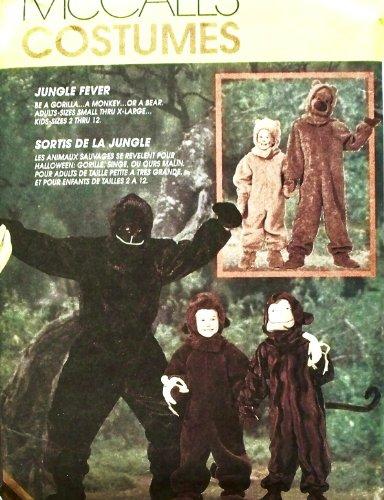 [OOP McCalls Costume Pattern 7863. Kids Sz 10/12 Gorilla, Monkey & Bear Costumes. Realistic!] (Gorilla Costume Pattern)