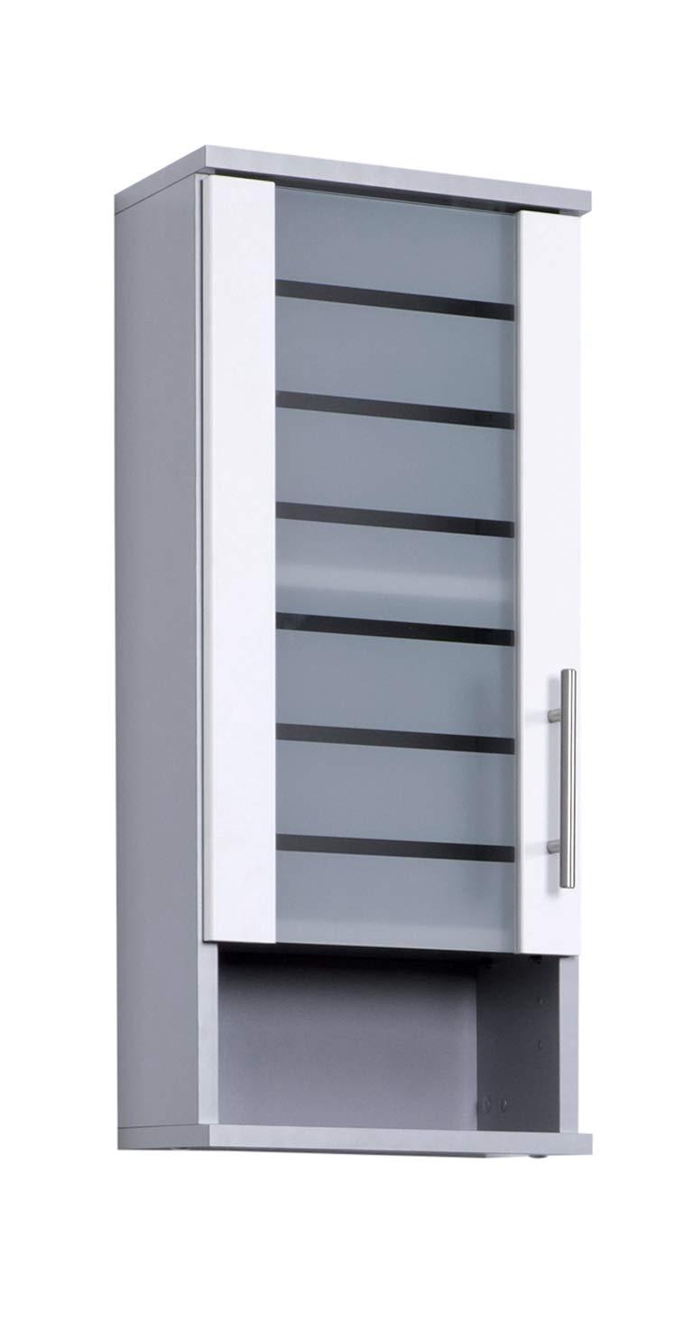 silber glanz-anthrazit glanz Schildmeyer Niko H/ängeschrank 113288 30,3//20,5//70,8 cm
