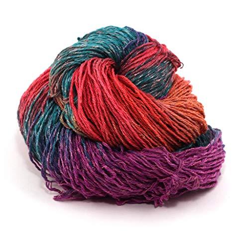 Darn Good Yarn, Sport Weight 80-20 Silk & Viscose Yarn, 140 Yards, Rainbow, 100 Grams, 1 Skein