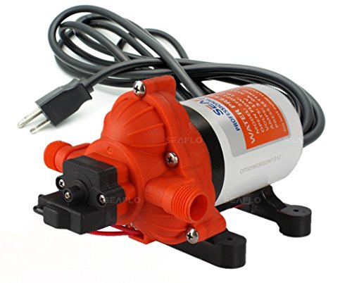 (SEAFLO 33-Series Industrial Water Pressure Pump w/Power Plug for Wall Outlet - 115VAC, 3.3 GPM, 45 PSI)
