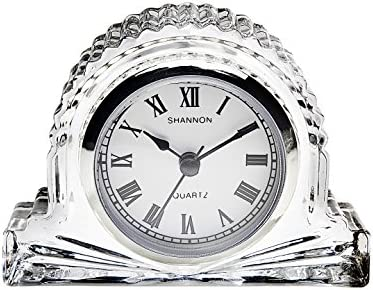 Shannon Crystal Cube Clock by Godinger