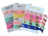 horse Unicorn/Horse/Mermaid Elastic Hair Ties Bracelet for Girls (3 Pack - Unicorn Mermaid Horse)