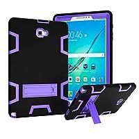 "Capa Shock Tablet Samsung Galaxy Tab A 10.1"" SM-P585/P580 + Película de Vidro - Preta/Roxa"