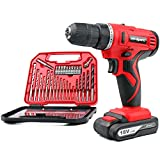 Cheap Hi-Spec 18V Pro Cordless Combo Drill Driver with 1500 mAh Lithium-Ion Battery, 2 Gears, 19 Position Keyless Chuck, Variable Speed Switch & 30pc Drill and Screwdriver Bit Accessory Set in Compact Stora