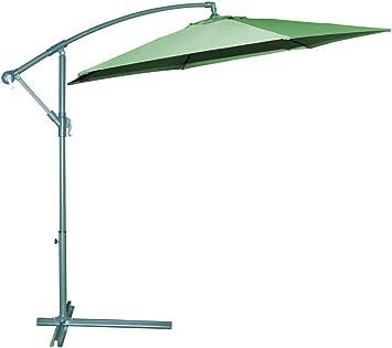 Parasol Para Jardín Aluminio Lateral Diam Color Verde 300 cm.: Amazon.es: Bricolaje y herramientas