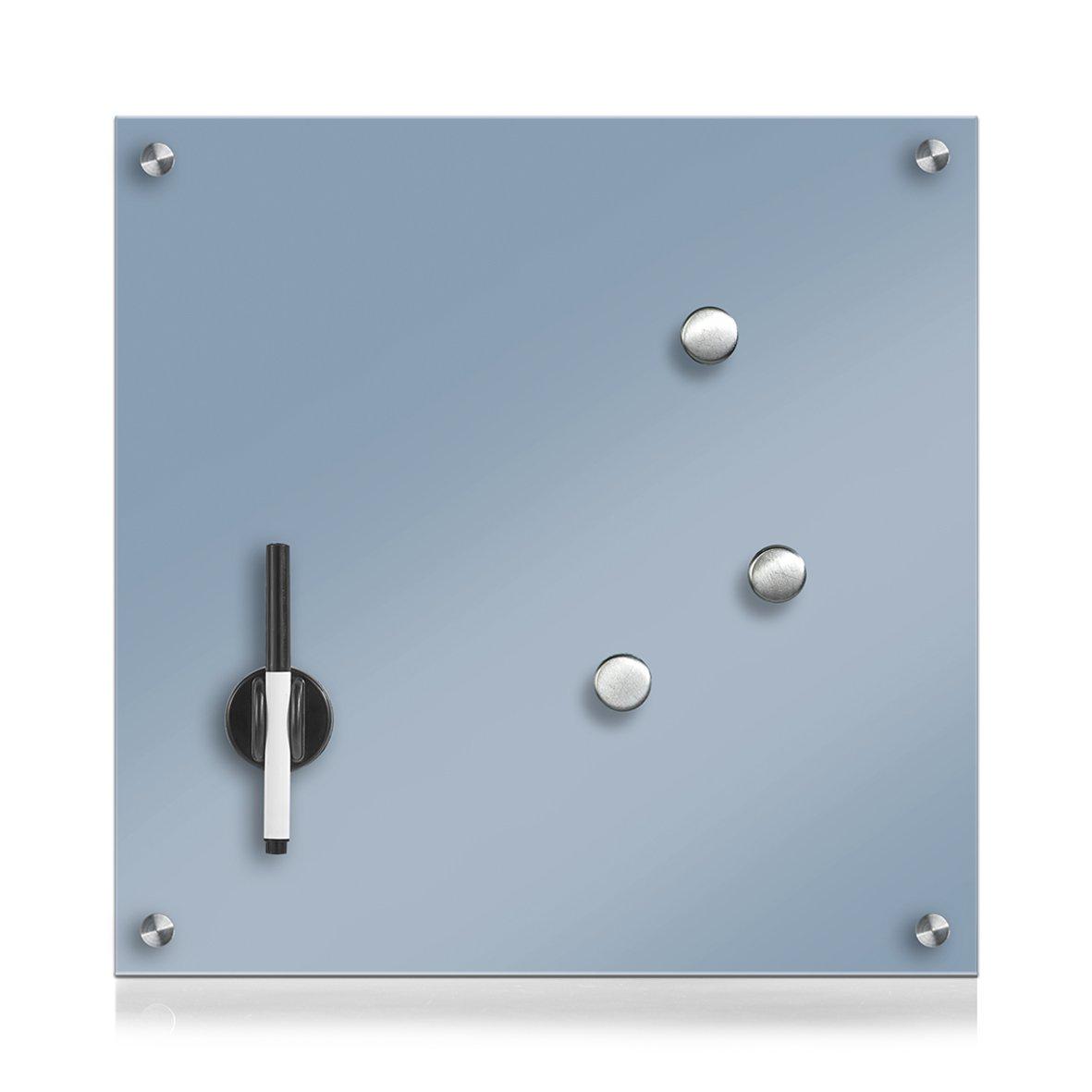 Zeller 11678Glass Notice Board, Blue, 40x 40x 1cm