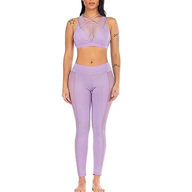 SUCES - Conjunto de Pantalones de Yoga para Mujer, cómodos ...