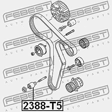 Rodillo de la cambio correa de distribución. febest Color 2388-t5 ...