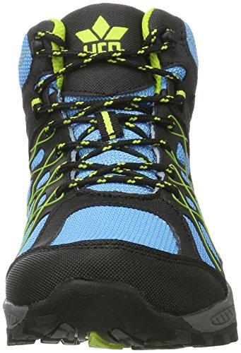 Lico Terrain, Zapatos de High Rise Senderismo para Niños Azul (Blau/schwarz/lemon)