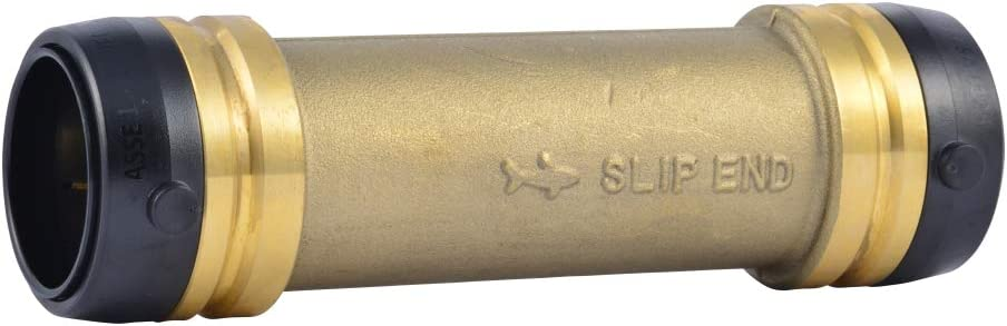 SharkBite UXL0635 Slip Coupling 1 1/4 Inch, Push-to-Connect, PEX, Copper, CPVC