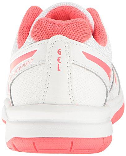 Zapato De Tenis FeHombresino Asics Gel-game Point Blanco / Rosa Diva